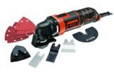 Black + Decker 300 W Multifunktionswerkzeug, inkl. 11-tlg. Zubehörset, Adapter für Universalzubehör, Koffer, MT300KA - 1
