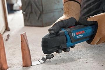 Bosch GOP 250 CE Professional Multi-Cutter im Karton mit Zubehör (Sägeblätter, Schleifplatte und -blatt, Schlüssel) - 2